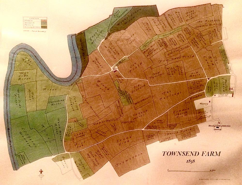 Townsend Farm Map 1838
