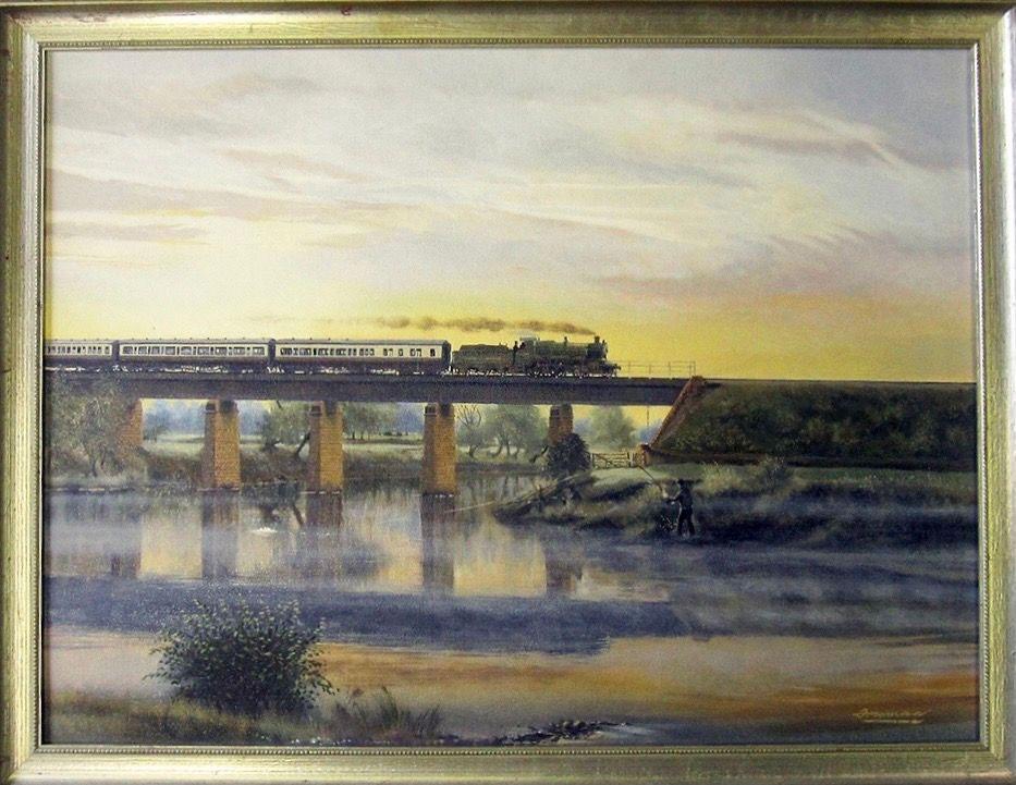 Barry Freeman Oil Painting of Backney Bridge