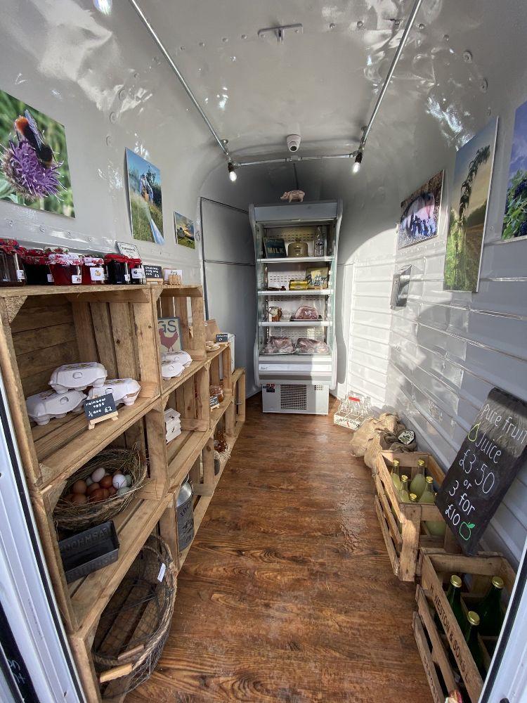Converted Horse Trailer into Farm Shop
